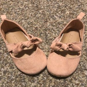 Light pink baby ballet shoes
